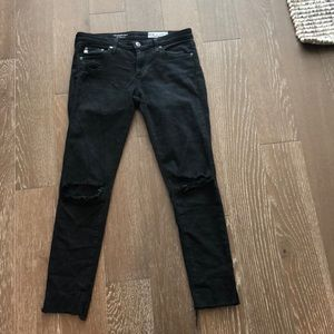 AG the legging ankle distressed jeans